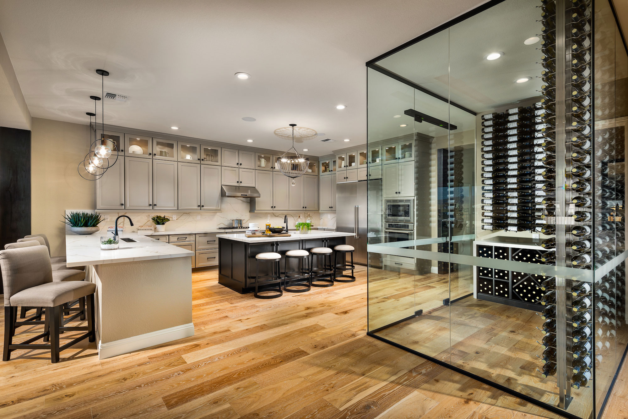 Kitchen and Wine Closet